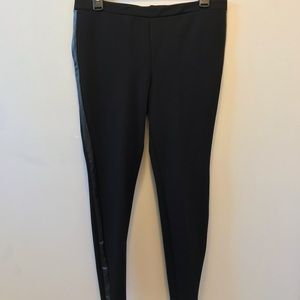 Joie striped pointe black pants.